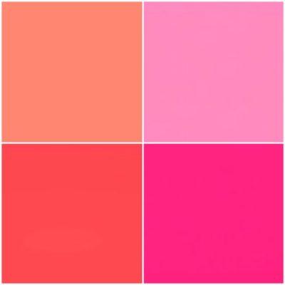 パーソナルカラーシーズン別のピンク/スプリング・コーラルピンク(ライトサーモン)/、サマー・ピンク、オータム・サーモンピンク、ウィンター・マゼンタピンク