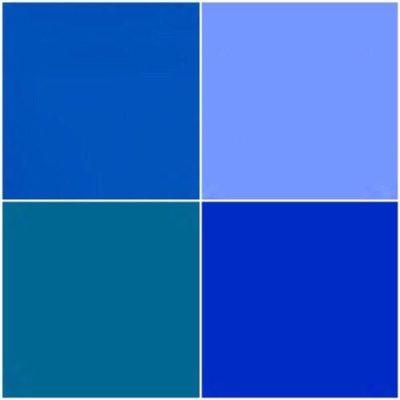 パーソナルカラーシーズン別のブルー/スプリング・ブライトブルー、サマー・ライトブルー、オータム・ウォームブルー、ウィンター・ロイヤルブルー