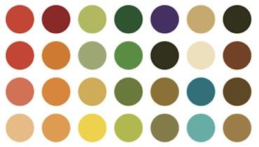 パーソナルカラーオータム28色
